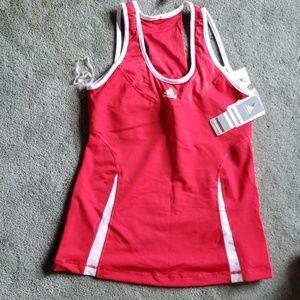NWT Adidas Climacool Sz L red tanktop